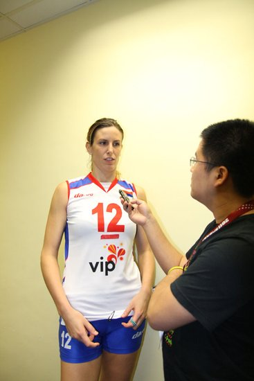 塞尔维亚女排队长专访 球队需要我将竭尽全力