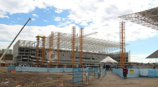 探访2014世界杯主会场  预计开幕前1个月完工