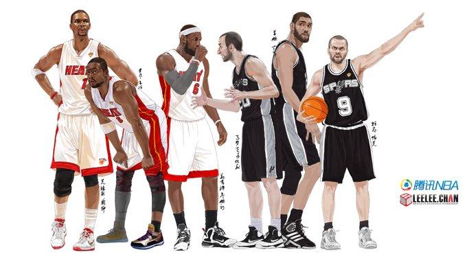 迎总冠军诞生!来微信庆贺 下载NBA中国风壁纸