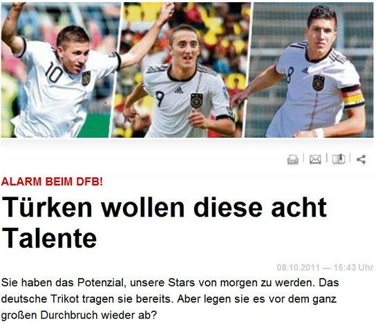球员争夺战打响!土耳其紧盯8名德国潜力新星