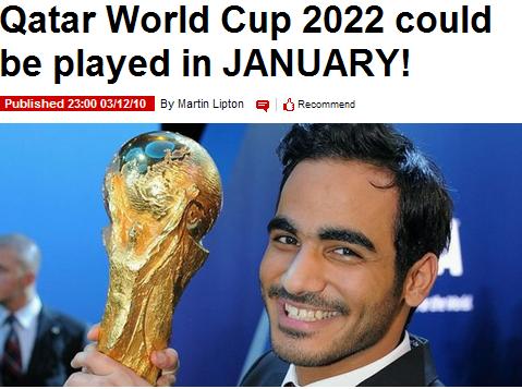 英媒惊爆卡塔尔新提议 2022世界杯恐改冬季赛
