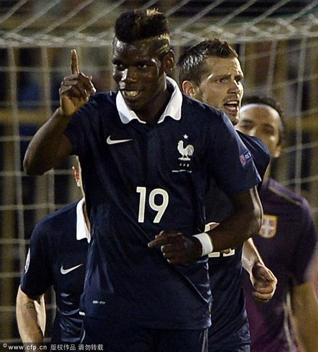 热身赛-法国1-1平塞尔维亚 博格巴射空门得手