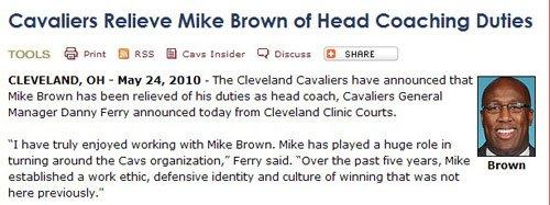 骑士正式宣布解雇布朗 NCAA名帅将携手皇帝?