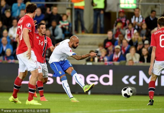 欧预赛-意大利2-0挪威 新星首球尤文铁卫建功