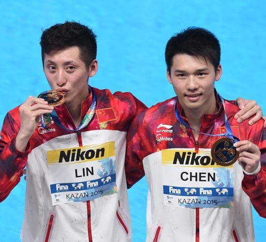 世界杯十米台林跃/陈艾森登顶 中国夺12连冠