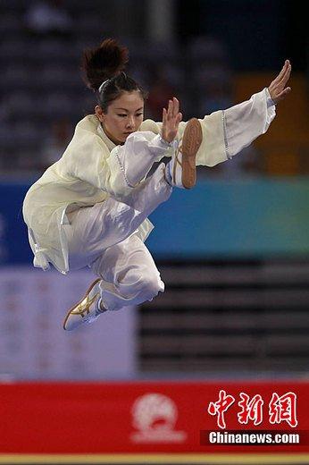 世界武搏会武术赛收官 中国选手豪夺7金称雄