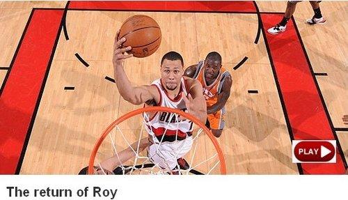NBA官网:罗伊完美复出 开拓者扳平总比分2-2
