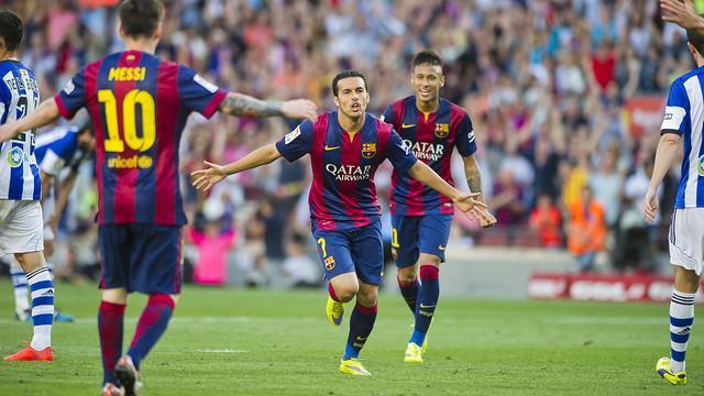 Barcelona VS Real Sociedad: Neymar and Pedro Jiangong (2-0)