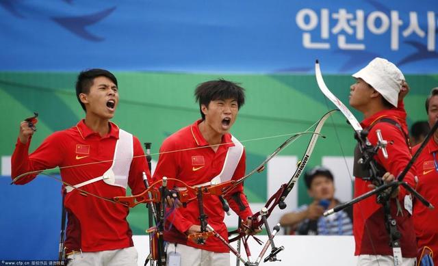 射箭男团中国首夺亚运会金牌 女队负韩国摘银