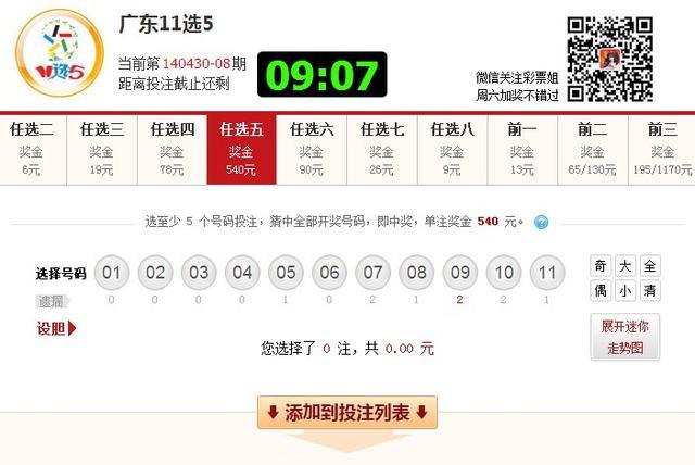 [发哥荐号]广东11选5-4月30日:任三14期开出