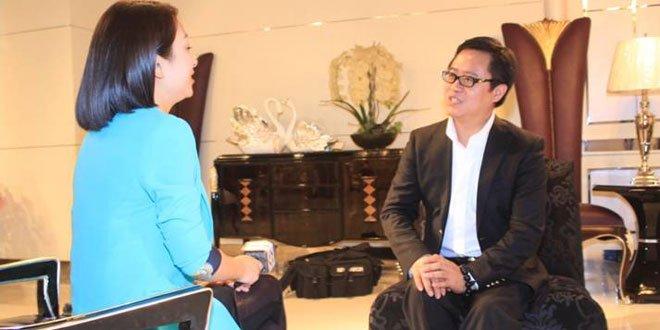 北京赛区组委会主席韩光华接受旅游卫视访问