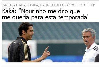 卡卡斩断流言:穆帅请我留下 从未拒绝巴西队