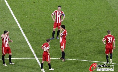 图文:欧冠决赛国米2-0拜仁 拜仁众将失望