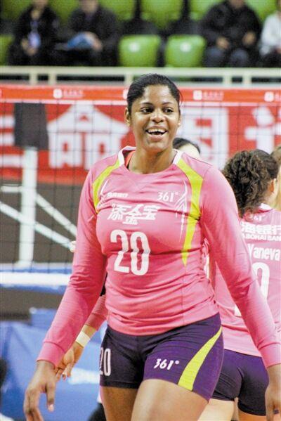 女排联赛天津3-1胜山东 古巴黑珍珠砍下23分