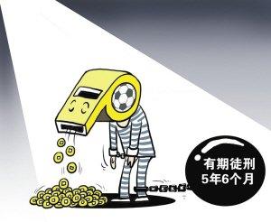 """漫画体坛:""""金哨""""陆俊获刑五年半"""