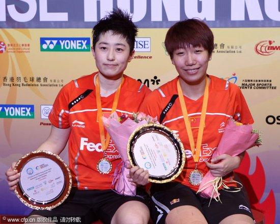 赵芸蕾因伤退赛 于洋王晓理成功卫冕女双冠军