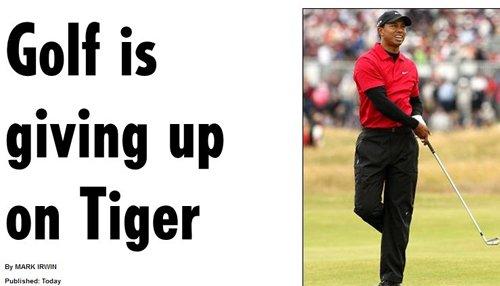 伍兹被高尔夫彻底抛弃? 老虎承认跌到谷底