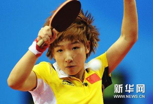 乒乓球:中国女团首胜(组图)