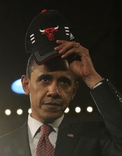 奥巴马无疑是公牛的最牛粉丝