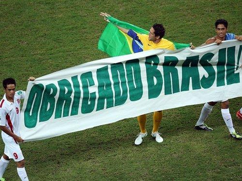 塔希提集锦:荣誉之战尽全力 温馨横幅致敬巴西截图