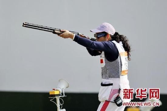 女子双向飞碟团体中国夺冠 张山20年后再摘金