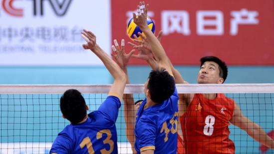全运会男排解放军苦战险胜江苏 将与北京争冠