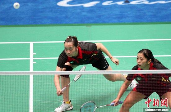 图文:羽球女双首轮 中国澳门选手遭淘汰