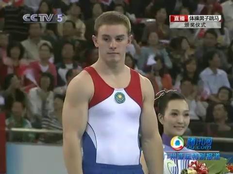 视频:体操单项决赛男子跳马 中国获得银牌