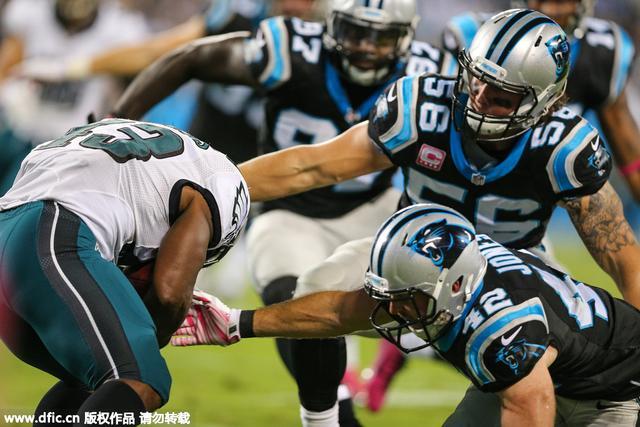 NFL-牛顿三抄截老鹰仍告负 黑豹保持赛季全胜