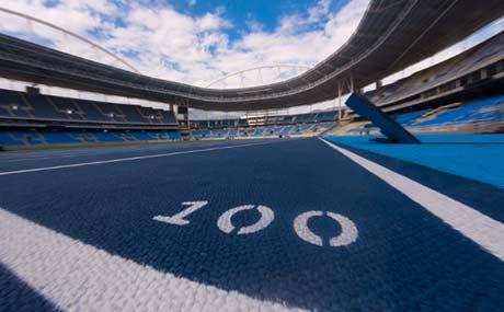 里约奥林匹克田径场跑道亮相14日举行测试赛惠新里篮球场图片