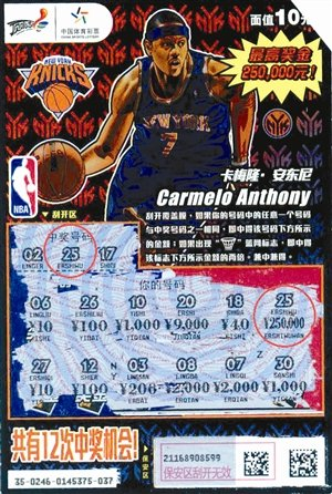 NBA主题票送大礼 幸运小伙喜摘25万超级大奖