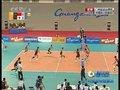 日本队第一点下球得分 10-15