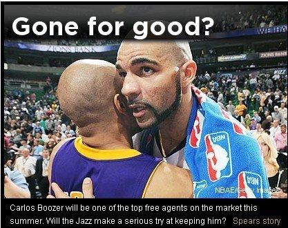 Yahoo:犹他双煞再成绝响 布泽尔离队是双赢
