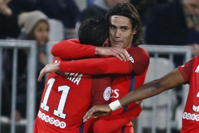 法甲-巴黎3-0客胜波尔多 卡瓦尼2球天使传射
