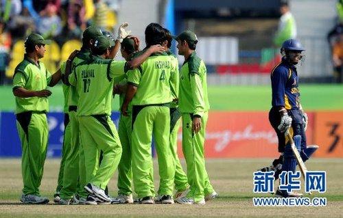 板球:巴基斯坦队获得男子季军(组图)