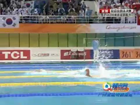 视频:男子4×200自由泳比赛(全程)