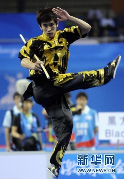 武术:贾瑞为中国澳门赢首枚亚运金牌(组图)