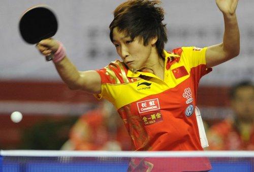 女乒热身赛刘诗雯独得2分 90后球队复仇80后