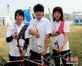 图文:中华台北射箭队三朵金花志在夺牌