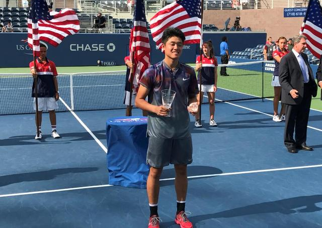 吴易昺青少年赛夺冠 成中国首位男单大满贯冠军