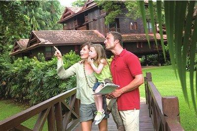 珍拉丁湾度假村非常适合家庭游客.