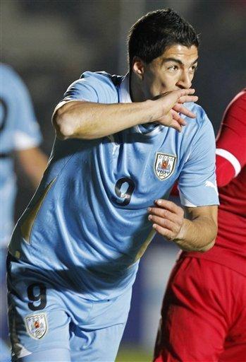 美洲杯-乌拉圭1-1秘鲁 苏亚雷斯拜仁旧将破门