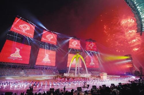 闭幕式显亚洲风情 仁川接棒期待四年后更精彩