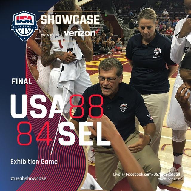 摩尔11分女魔兽8分 美国女篮热身赛胜混合队