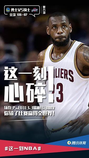 腾讯总决赛视频播放量超5亿 领跑NBA中文报道