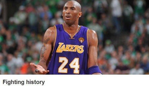 NBA官网:科比困惑类似前辈 湖人能否破魔咒