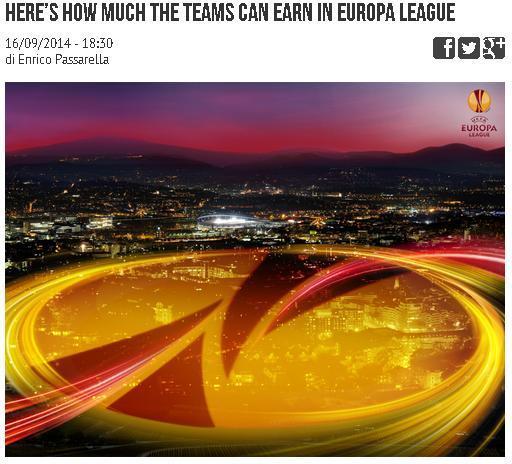 欧联杯奖金方案:冠军仅比欧冠全败队多130万