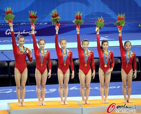 中国体操女团亚运十连冠 领先近11分亚洲无敌