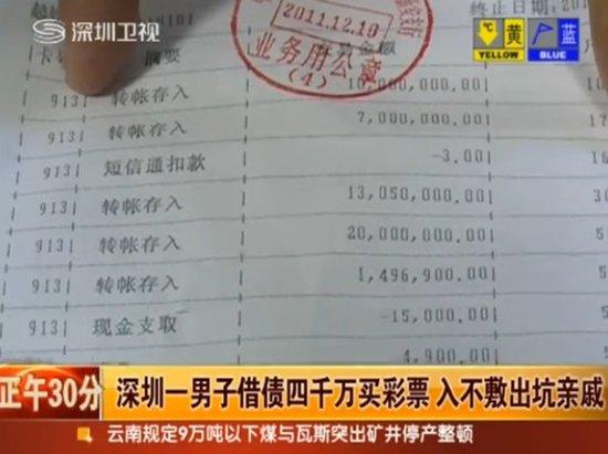 男子借债4200万买彩票 血本无归身陷囹圄(图)