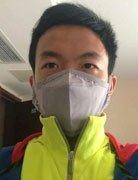 体操队员戴口罩防H7N9 郭伟阳酷似蒙面侠